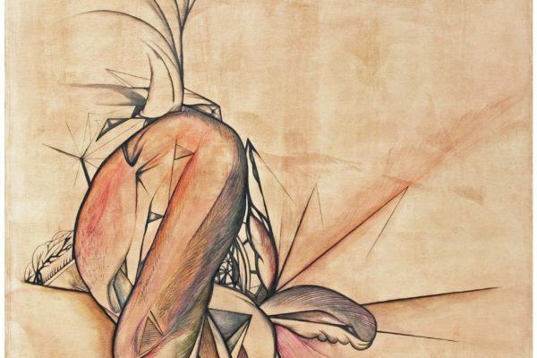 Untitled 2016. 80x80cm. Graphite pencil, wax oil crayon, crayon, oil on canvas